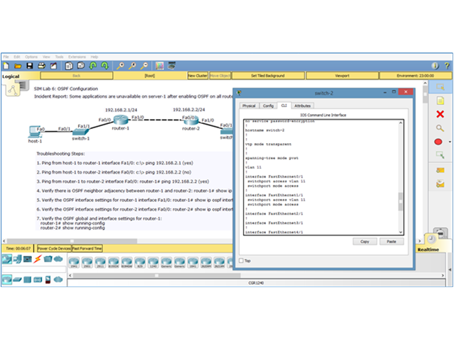 CCNA v3 Lab Simulator Screen shot